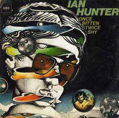 1975 Ian Hunter - Once Bitten Twice Shy [CBS illustration: Martin Springett ; cover artwork inspiration: M. Escher - Bond of Union Storm Thorgerson, Greatest Album Covers, Rock Album Covers, Top 100 Albums, Great Albums, Patti Smith, Neil Young, Bruce Springsteen, Bob Dylan