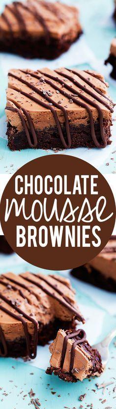 Chocolate Mousse Brownies   Creme de la Crumb