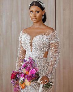 Hijab Wedding Dresses, Glam Dresses, Wedding Dresses Plus Size, Dream Wedding Dresses, Bridal Dresses, Wedding Gowns, Reception Dresses, Wedding Reception, Nigerian Bride