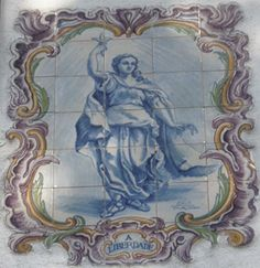 A LIBERDADE – Painel de azulejos numa rua de Lisboa