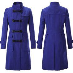 Women Wool Coats, Plus Size Winter Coat Black, Blue, Green, Red