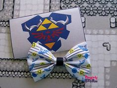 The Legend of Zelda- Ocraina of Time  Song of Storms Hair bow/ Bow tie Handmade unique  Geeky Gamer bow