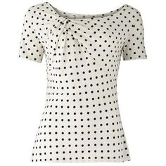 DOT TWIST TOP Twist neck jersey top with dot print. In a choice of three colours, white with black dots, pink with white dots and navy with white dots. Made in India in Fair Trade and organic cotton. Polka Dot Shirt, Polka Dots, Pink Tops, White Tops, Teacher Outfits, Cute Outfits, Short Sleeve Dresses, Fashion Outfits, Women's Fashion