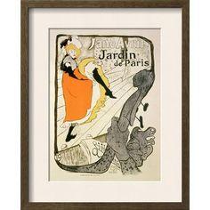 "Wildon Home  'Reproduction of a Poster Advertising ""Jane Avril"" at the Jardin De Paris, 1893' by Henri de Toulouse-Lautrec Framed Painting Print"
