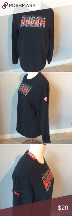 """Ducati Puma shirt Great pre owned condition. Pit to pit is 19"""" length is 26"""" smoke free home Puma Shirts Tees - Long Sleeve"""