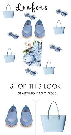 """Blue Sunday"" by diane-char ❤ liked on Polyvore featuring Nicholas Kirkwood, Pinko and Kate Spade"