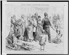 A sketch of the residents of Five Points, a famously Irish neighborhood in New York. Proving that American slang has its roots in the Irish American urban experience. New London, London Life, New York Chinatown, Irish Famine, Howard Pyle, Gangs Of New York, Irish American, American History, Early American