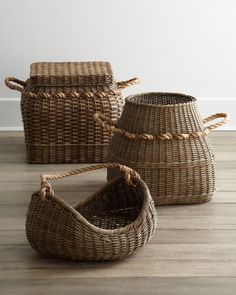 Rattan baskets with rope handles baskets basket decoration, Rattan Basket, Basket Bag, Willow Weaving, Basket Weaving, Woven Baskets, Rustic Baskets, Picnic Baskets, Sisal, Rattan Lampe