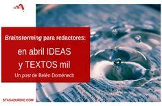 Después de una #lluviadeideas siempre sale un texto creativo. #brainstorming #creatividad #innovación #ideas #blogstoryfriendly #redactores #redacción #tormentadeideas
