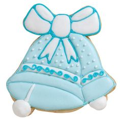 Wedding Bells Cookie - Decorated with the bridal party's colors, these cookies will surely ring some bells! Use the 4-Piece Wedding Cookie Cutter Set and color flow icing to create these treats.