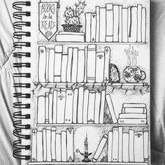 TBR. #tbr #toberead #books #bookshelf #sketch #inkdrawing #bujo #bulletjournal #bulletjournallove #bulletjournaljunkies #readytofillthisbadboyin #ineveruseftobeabletodraw #newyear #2017 #art #spiral