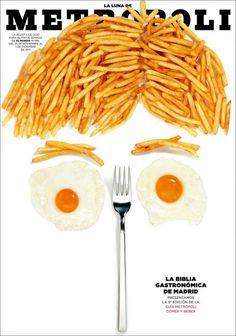 """cMag316 - (La Luna de) Metropoli Magazine """"La Biblia Gastronómica de Madrid"""" cover by Rodrigo Sánchez / December 2011"""