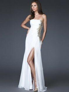Column Applique ärmellose bodenlangen Chiffon Prom Dresses 288,43 €   155,99 €