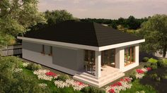 Casa unifamiliala organizata pe parter, suprafata utila de 104 mp| Modern single-family dwelling| Etichete: proiecte case, proiecte case mici, proiecte case mici parter, case mici, proiecte case moderne