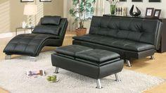 Futon sofa bed pillow top with adjustable arm black, $265.00 (http://stores.egoodyusa.com/futon-sofa-bed-pillow-top-with-adjustable-arm-black/)