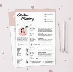 "Resume CV Design Template + Cover Letter | Instant Digital Download | The ""Colorista"""