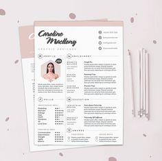 "Resume CV Design Template + Cover Letter | Instant Digital Download | The ""Colorista"""