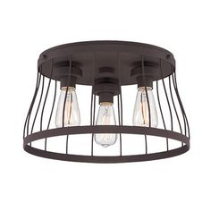 Shop Wayfair for Flush Mounts to match every style and budget. Enjoy Free Shipping on  sc 1 st  Pinterest & Designers Fountain Brooklyn 3 Light Semi Flush Mount | kitchen ... azcodes.com