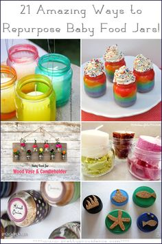 21 Amazing ways to repurpose baby food jars! Thank goodness, because I have about a million of these lying around!