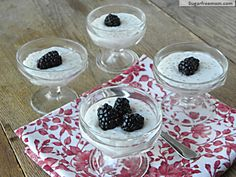 Homemade Tapioca Pudding: Gluten & Sugar Free with Dairy Free option-Less than 60 calories per serving!