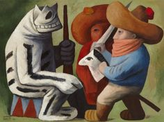 artmastered: José Chávez Morado, Carnival in Huejotzingo, 1939, oil on canvas, 71.1 x 96.5 cm,...