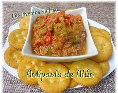 Another recipe that can not miss in our festivities. You can also prepare this antipasto from chicken or turkey. 2 cans. Puerto Rican Cuisine, Puerto Rican Dishes, Puerto Rican Recipes, Cuban Cuisine, Antipasto Recipes, Antipasto Salad, Appetizer Recipes, Appetizer Party, Comida Boricua