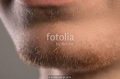 """Lips an beard of young and confident businessman"" Fotos de archivo e imágenes libres de derechos en Fotolia.com - Imagen 92596180"
