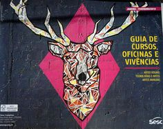 Kranium Graffiti  Trabalho estampando a capa de Guia de Cursos do Sesc Campinas