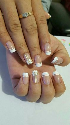 Stunning Striped Nails Art Ideas for Prom ❀ - Diaror Diary - Page 34 ♥ 𝕴𝖋 𝖀 𝕷𝖎𝖐𝖊, 𝕱𝖔𝖑𝖑𝖔𝖜 𝖀𝖘!♥ ♡*♥ ♥ ♥ ♥ ♥ ♥ ♥ ♥ ♥ ♥ ♥ ღ♥Hope you like this collection about striped nails! ღ♡*♥ 𝖘𝖙𝖚𝖓𝖓𝖎𝖓𝖌 𝖘𝖙𝖗𝖎𝖕𝖊𝖉 𝖓𝖆𝖎𝖑𝖘 𝖉𝖊𝖘𝖎𝖌𝖓 ♡*♥ ღ Spring Nail Art, Spring Nails, Summer Nails, Nail Art Stripes, Striped Nails, Bow Nail Art, French Manicure Designs, Nail Art Designs, Nails Design