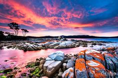 Binalong Bay, Bay of Fires, Tasmania. Copyright Girt By Sea Photography.