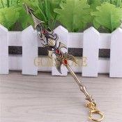LOL League Of Legends Jarvan Ⅳ Weapon Model Pendant Jewellery Metal Keychain Ornament