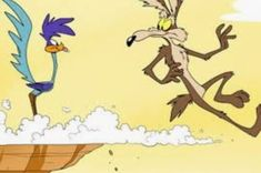 Chuck Jones created Wile E. Coyote and the Roadrunner as a parody of chase cartoons like Looney Tunes Characters, Looney Tunes Cartoons, Funny Cartoons, Cartoon Caracters, Cartoon Cartoon, Bip Bip Et Coyote, Pop Art, Cute Potato, Tex Avery