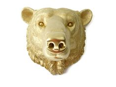 This polar bear wall mount is made of resin by art crafters Near and Deer. It has a vibrant appearance with a strikingly modern aesthetic. It is available in limited quantities in the most popular color combinations. Near and Dear can customize the color for you; include in the Order Notes during checkout the general color you have in mind or even an exact shade, and we will create your Near and Deer piece with the exact custom color of your choice. Show off your love for animals by…