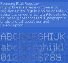 Foundry Flek, OpenType, Level 1, Regular   Foundry Types