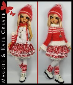 """** HOLIDAYS ** Winter Outfit for Kaye Wiggs 18"""" MSD BJD by Maggie & Kate"""