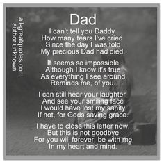 Daddy I Miss You, Miss You Dad Quotes, Daddy Quotes, Love You Dad, Father Quotes, Memorial Quotes For Dad, Father Poems, Memorial Poems, Karma Quotes