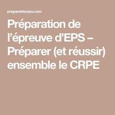 Préparation de l'épreuve d'EPS – Préparer (et réussir) ensemble le CRPE