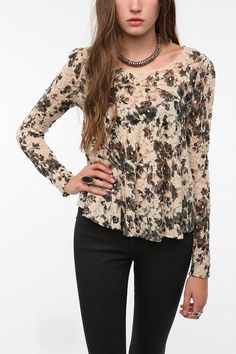 Pins and Needles Lace Swing Top