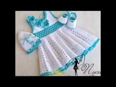Vestidos Para Niña Bebe - Tejidos a Crochet - YouTube