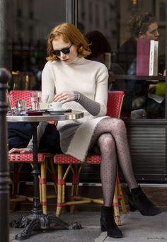A day with Jessica Joffe, Paris, Fashion Week, café / Garance Doré
