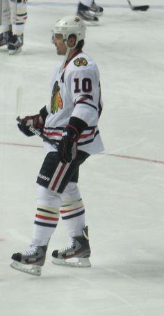 Patrick Sharp, Chicago Blackhawks, taken 2-7-12 at the Pepsi Center