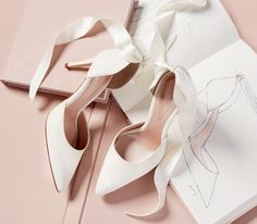 Harriet Ivory is the must-have wedding shoe for brides who want to change their look throughout their wedding day. This sexy d'Orsay style sits on a slim mid heel and comes with two strap options so you can change up your look throughout the day. Read more on our blog. Click through to explore.