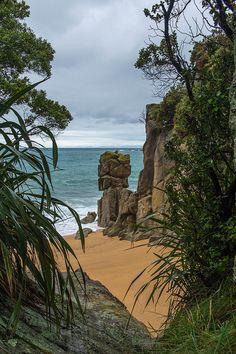 It's a beautiful world - Hidden beach on Abel Tasman National Park, New Zealand (by joostdebruijn).