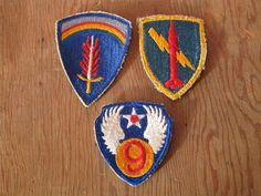 Antique WWII US Army Military Embroidered patches