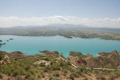 Vista desde los miradores del Pantano del Negratín.