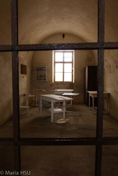 One of the cells was using as medical function. Terezín Small Fortress. #Terezín #Theresienstadt #SmallFortress #ConcentrationCamp #Prague #CzechRepublic #2015