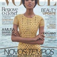 Jourdan Dunn Rocks an Afro on Vogue Brazil's February Cover