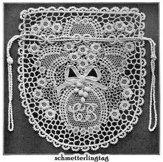 irish+crochet+books   Details about Irish Lace Book Butterflies Purse Crochet Pattern 1912