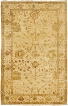 OSH145A Rug from Oushak collection.  Traditional Oushak rugs, originally created in the Turkish village of the same name, are renowned for especially beautiful designs and colorations. Small batch vegetable dyes yield the color variation s typical of this rug