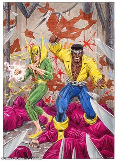 Iron Fist & Luke Cage by Giorgio Comolo